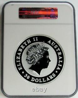 2014 P Silver Australia 32.15ozs KG Kilo Kookaburra $30 Coin Ngc Mint State 69
