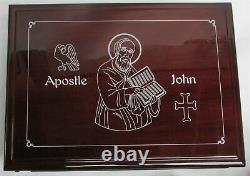 2014 Silver Liberia Proof Kilo KG 1000 Grams Puzzle Apostle Saint John Coin Box