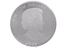 2015 1 KG Kilo Kilogramme 250 $ Argent Coin Looney Tunes Bugs Bunny Ensemble Canada