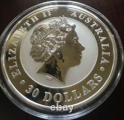 2015 1 Kilo. 999 Argent Australien Kookaburra 25th Anniversary Coin