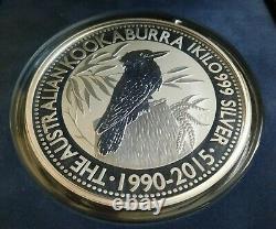 2015 1 Kilo Pièce D'argent Australienne Kookaburra