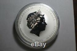 2015 Australian Lunar Series II Yr De La Chèvre 1 Kilo Argent Couleur Monnaie