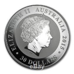2015 Australie 1 Kilo D'argent Kookaburra Bu Sku # 84447