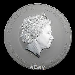 2015 Australie 1 Kilo D'argent Lunaire De Chèvre Bu Sku # 84365