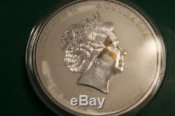 2015 Australie Année De La Chèvre Kilo Coin 32,15 Oz 999 En Argent Fin Lunaire Perth