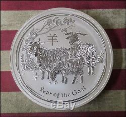 2015 Australie Année Lunaire De La Chèvre 1 Kilo (32,15 Oz) Coin Choix Unc -bino