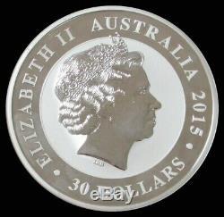 2015 Australie Argent 32,15 Oz 1 Kilo KG Anniversaire Kookaburra Coin Capsule