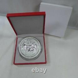 2015 Australien Lunar Chinois Zodiac. 999 Argent 1 Kilo Coin Année De La Chèvre
