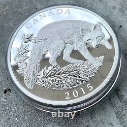 2015 Canada 1/2 Kilo. 99999 Pièce En Argent Fin 125 $ Renard Gris