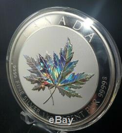 2015 Canada Feuille D'érable Pour Toujours Hologram 1 Kilo Silver Coin En Ogp. Impeccable $$$