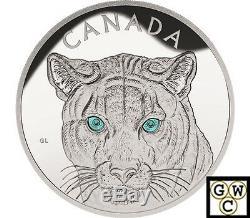 2015 Kilo'in Les Yeux Du Cougar ' 250 $ Silver Coin. 9999 Fine (nt) (16975)