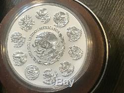 2015 Mexique 1 Kilo $ 100 Calendrier Aztèque 32,15 Ozt. 999 En Argent Fin Capsule B / P