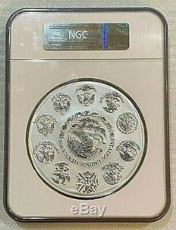 2015 Mexique 1 Kilo Argent Libertad Ngc Pl70 De 2000 Rare Mintage Pop 57