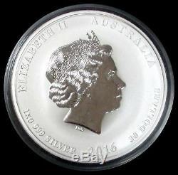 2016 Argent Australie 1 Kilo 999 Ans De Singe Coin 32,11 Oz