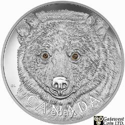 2016 Kilo'in The Eyes Of The Spirit Bear' $250 Silver Coin. 9999 Amende (17572)