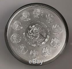 2016 Mexique Ley 1 Kg. 999 Plata Pura Mexicain Kilo Libertad Silver Coin Puck
