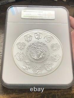 2016 Mo Mexique 1 Kilo. 999 Argent Ngc Nuanced Ms-70 Perfectsuper Low Pop Rare