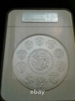 2016 Mo Mexique 1 Kilo. 999 Fine Silver Libertad Coin Ngc Ms70 Pop 192