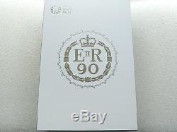 2016 Monnaie Royale Queens 90ème Anniversaire Uk £ 500 Proof Argent Kilo Coin Box Coa