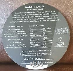 2016 Star Wars Niue Ngc Pf 70 1 Kilo $ 100 Sii Darth Vader First 200 Frappé # 45
