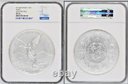 2016mo Mexique Libertad 1 Kilo Argent Pièce Ngc Ms70 Early Releases Perfect