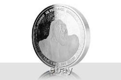 2017 1 Kilo Congo Silverback Gorilla. 999 Silver Coin Bu #a432