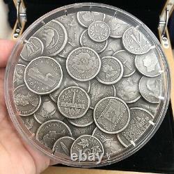 2017 Canada 1 Kilo Collection De Pièces De 250 $. 999 Fine Silver Coin Avec Box & Coa Rare