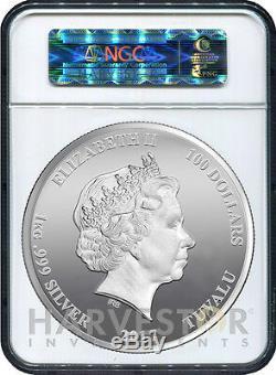 2017 Gardiens De La Galaxie 1 Kilo Silver Coin Mbac Pf70 Premières Sorties