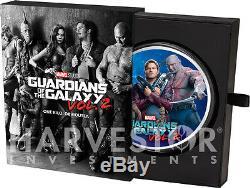 2017 Gardiens De La Galaxie Marvel 1 Kilo Silver Coin Pleine Couleur Seulement 50