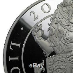 2017 Go Preuve 1 Kilo De Silver Queen Bêtes Lion (écorchures) Sku # 200931
