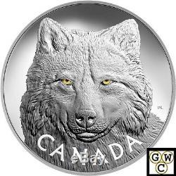 2017 Kilo'in Les Yeux Du Bois ' Wolf 250 $ Silver Coin. 9999fine (18007) (nt)
