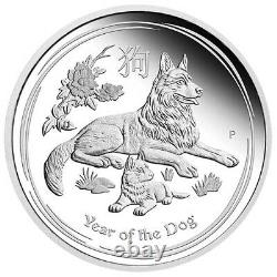 2018 1 Kilo Silver Proof Australian Lunar Dog Coins (box + Coa)