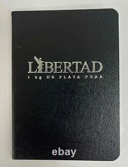 2018 Mexique 1 Kilo. 999 Fine Silver Libertad Proof Comme Avecaffichage Box & Coa