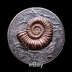 2018 Mongolie 1 Kilo D'argent 20 000 Togrog Ammonite Antique Finish Sku # 186810