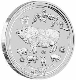 2019 Année De La Série Lunar Mint Pig Perth II 1 Kilo Silver Coin
