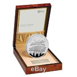 2019 Année Lunaire Du Cochon Uk Kilo Silver Proof Coin Monnaie Royale Coa Box