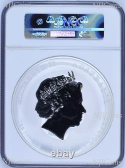 2019 Australie Année Lunaire De L'argent Pig 1 Kilo Gemstone $ 30 Coin Mbac Ms 70