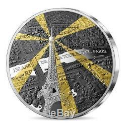 2019 France 1 Kilo Tour Eiffel 130e Ann Tresor De Paris Silver Proof Coin