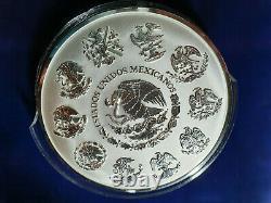 2019 Mexique 1 KG Kilo Kilogramme Libertad Argent Withbox & Coa 500 Pièces Mintage