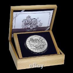 2019 Niue 1 Kilo Lion D'argent Tchèque Bu Sku # 191705