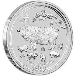 2019 P Australie Argent Année Lunaire Du Porc Kilo 32,15 Oz $ 30 Bu