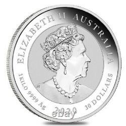 2020 1 Kilo Silver Australian Bull Et Bear Coin Perth Mint. 9999 Bu Fine Dans Le Chapeau