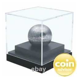 2020 100 $ Niue. 999 Fine Silver Kilo Spheric Stars Wars Death Star Ogp & Coa