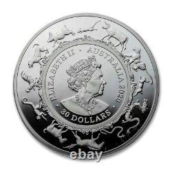 2020 Australie 1 Kilo Argent Année Lunaire De La Preuve Rat (nouveau) Seulement 100 Minted