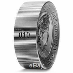 2020 Australie 2 Kilo Kookaburra 60 $ Antiqued High Relief Argent Monnaie 200 Made