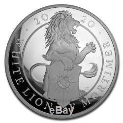 2020 GB 1 Kilo Argent Queen Bêtes White Lion Prf (withbox & Coa) Sku # 198731