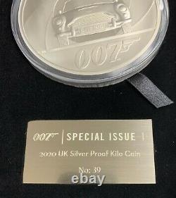 2020 Grande-bretagne James Bond 007 Db5 1 Kilo. 999 Pièce De Preuve D'argent 70 Fait