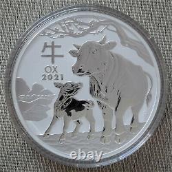 2020 Lunar Ox 1 Kilo Pièce D'argent