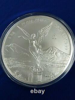 2020 Mexique 1 Kilo Silver Libertad, Mintage Limité De 500 Pièces. 999 Argent