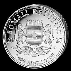 2020 Somalie 1 Kilo D'argent Elephant Sku # 197579